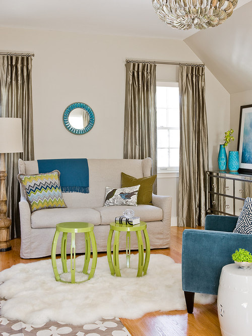 Teal aqua houzz for B q living room curtains