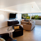 Media Room Contemporary Living Room Seattle By