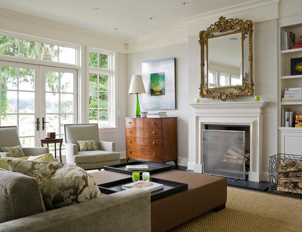 Transitional Living Room by Laura Bohn Design Associates