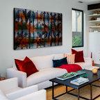Minimal Modern Great Room Fireplace
