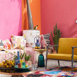 Неиссякаемый источник вдохновения для домашнего уюта: гостиная комната в стиле фьюжн