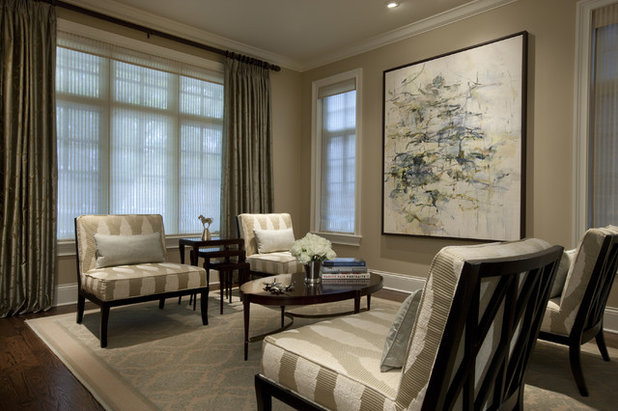 Traditional Living Room by Michael Abrams Interiors