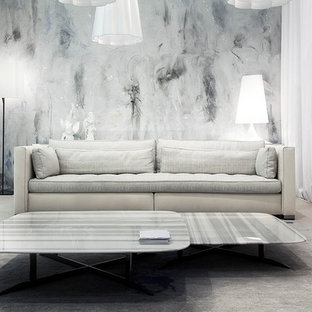 Inspiration for a large contemporary living room remodel in Miami