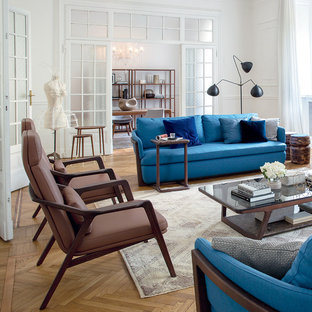 Transitional living room photo in Miami