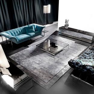 Living room - contemporary living room idea in Miami