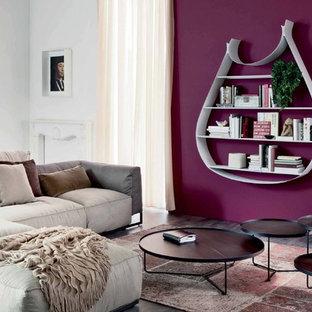 Exempel på ett modernt vardagsrum