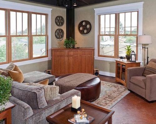 Wood Window And White Trim Houzz