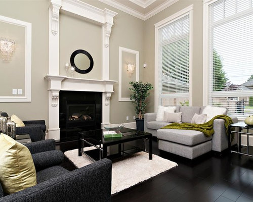 Gray Wall White Trim Houzz