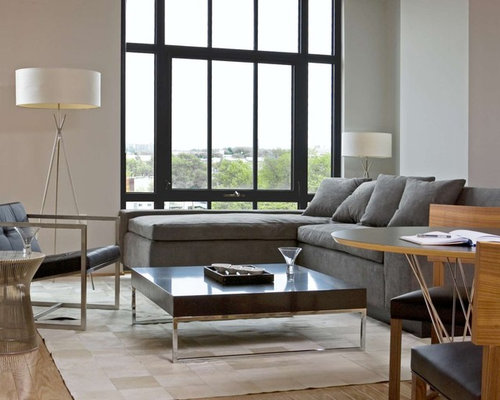 sleek living room furniture. Contemporary Living Room Idea In DC Metro With White Walls Sleek Furniture