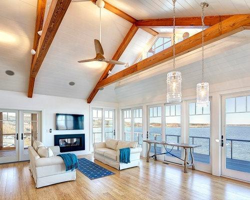 maritime wohnzimmer mit bambusparkett ideen design. Black Bedroom Furniture Sets. Home Design Ideas