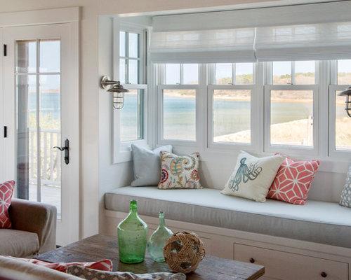 Beach Style Living Room Idea In Boston