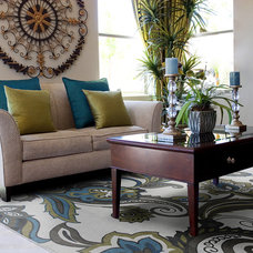 Transitional Living Room by KAS Rugs & Home