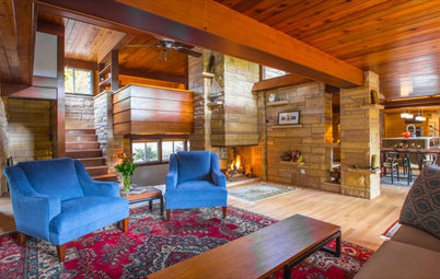 Houzz TV: This Dream Midcentury Home in a Forest Even Has Its Own Train