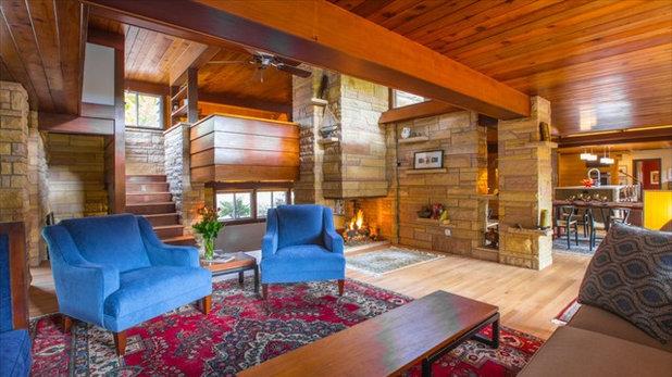 Rustic Living Room Serene City Dwelling