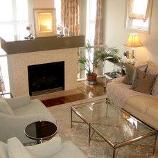 Contemporary Living Room by Wharton Interiors