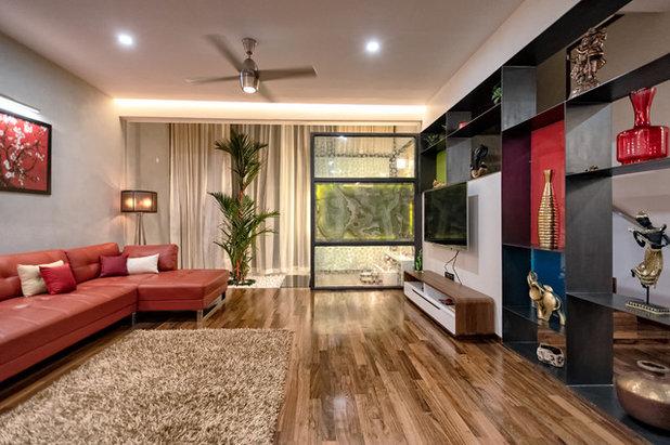 Contemporary Living Room by Sudaiva Studio