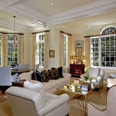 Traditional Living Room by Hughes Construction, Inc