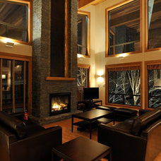 Contemporary Living Room by Sticks and Stones Design Group Inc
