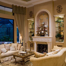 Mediterranean Living Room by Peregrine Homes