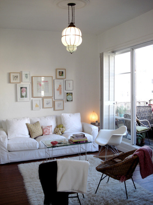 Bohemian modern houzz for Eclectic bohemian living room