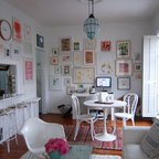 modern vintage living room and entry - Eclectic - Entry - portland - by bright designlab