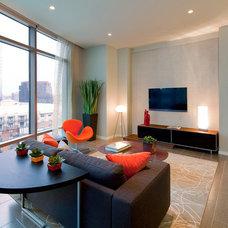 Contemporary Living Room by Bella Villa Design Studio