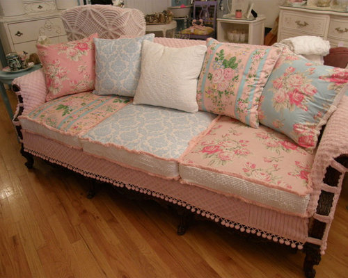 yellow shabby chic girls bedroom houzz. Black Bedroom Furniture Sets. Home Design Ideas