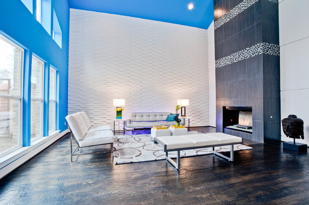 Contemporary Living Room by New Leaf Custom Homes