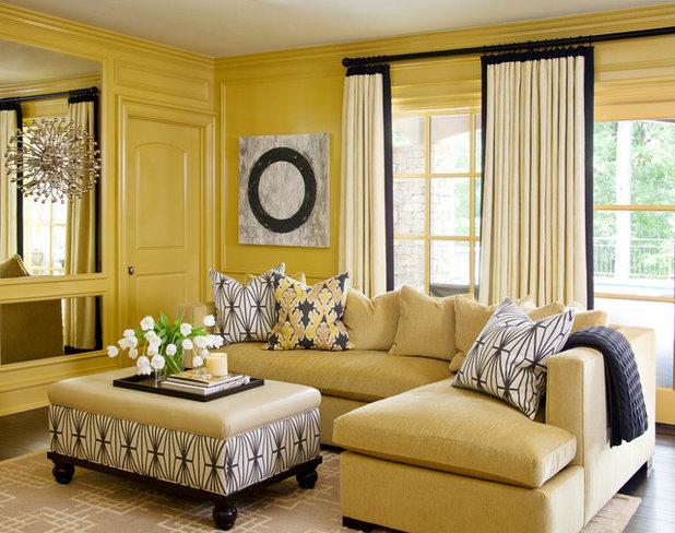 Transitional Living Room by Tobi Fairley Interior Design