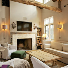 Farmhouse Living Room by World Wide Stereo