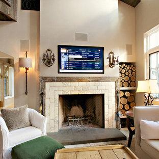 Inspiration for a cottage living room remodel in Philadelphia