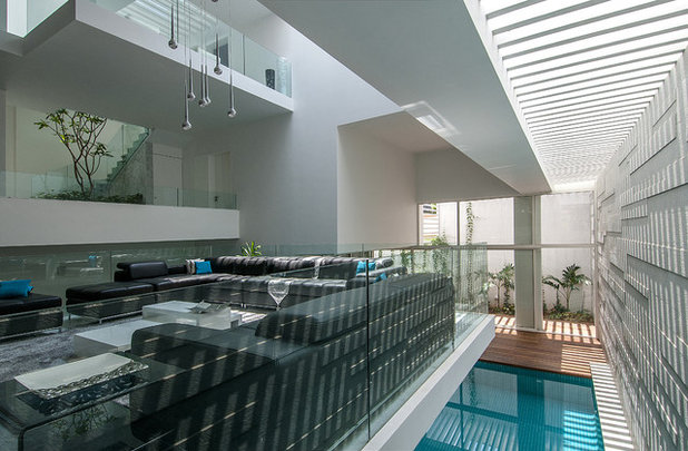 Contemporary Family Room by Architecture Paradigm