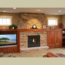 Craftsman Living Room by Coldwell Banker Burnet