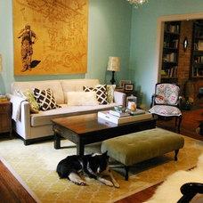 Living Room Shanan & Chris's Rustic Glam Rowhouse