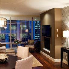 Contemporary Living Room by ZWADA home