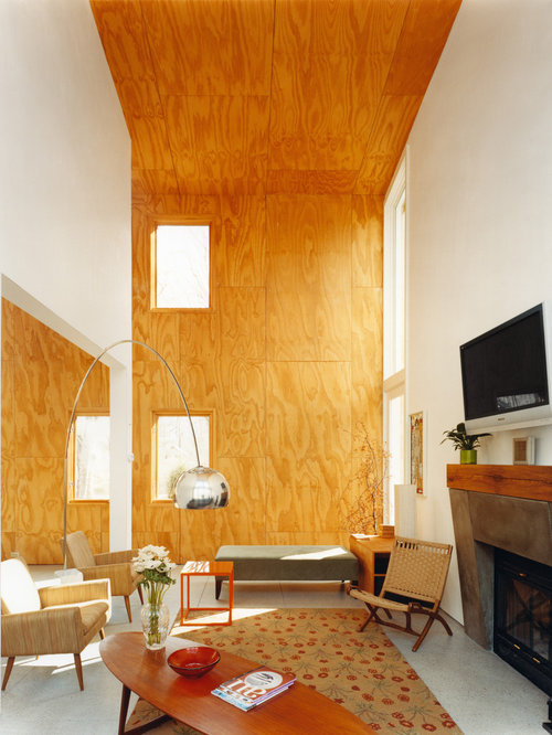 Plywood interior design home design ideas pictures for Plywood wall sheathing