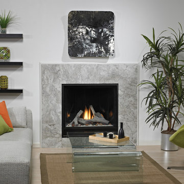 Sharp Accented Fireplace - American Hearth