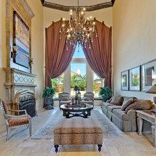 Mediterranean Living Room by Versailles Luxury Homes, Inc.