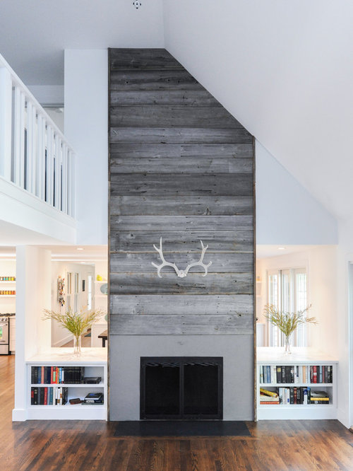 Barnwood Fireplace Houzz