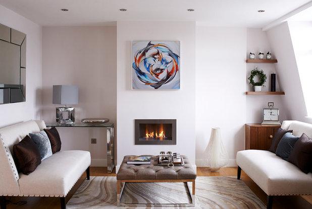 Contemporary Living Room Sheffield Terrace, Kensington, London