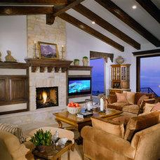 Mediterranean Living Room by Leonard Temes Design