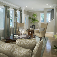 Eclectic Living Room by DECORATING DEN INT. SHELLEY RODNER C.I.D.