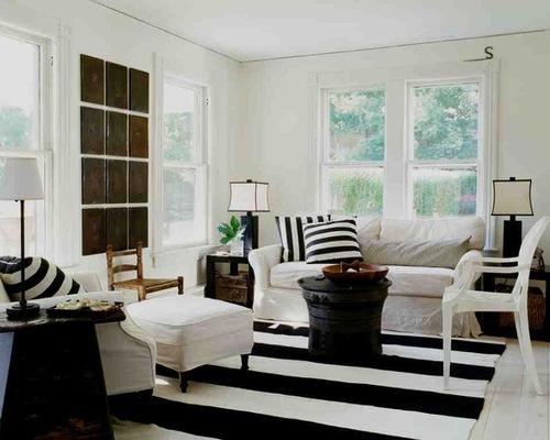 black and white modern living room furniture