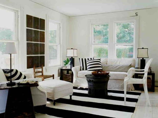 Shabby-Chic Style Living Room by SchappacherWhite Architecture D.P.C.