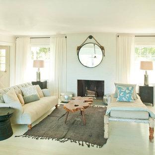 Idee per un soggiorno moderno con pareti bianche