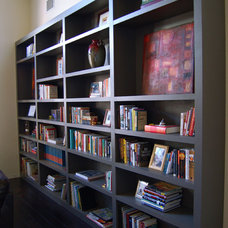 Eclectic Living Room Shelves in our living room