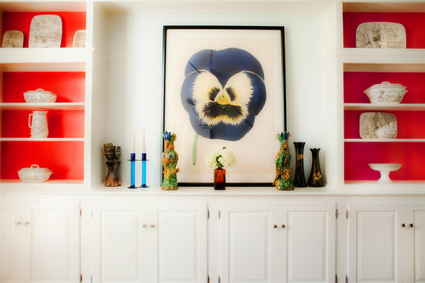 Eclectic Living Room Shelving