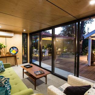 Design ideas for a contemporary living room in Perth.