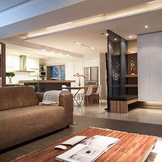 Contemporary Living Room by PMK+designers