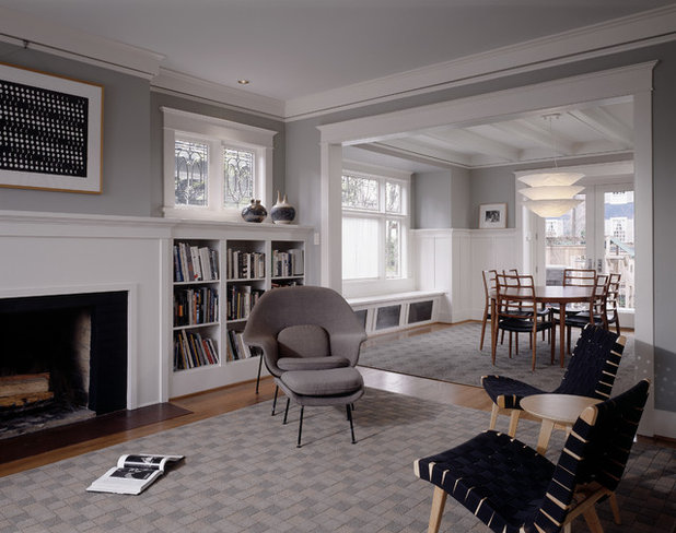 American Traditional Living Room by Sheri Olson Architecture PLLC